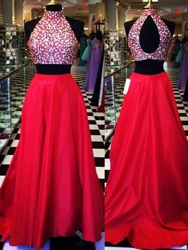 Forme Princesse Dos nu Balayage/Pinceau traîne Satiné Robe de bal grande taille avec Brodé
