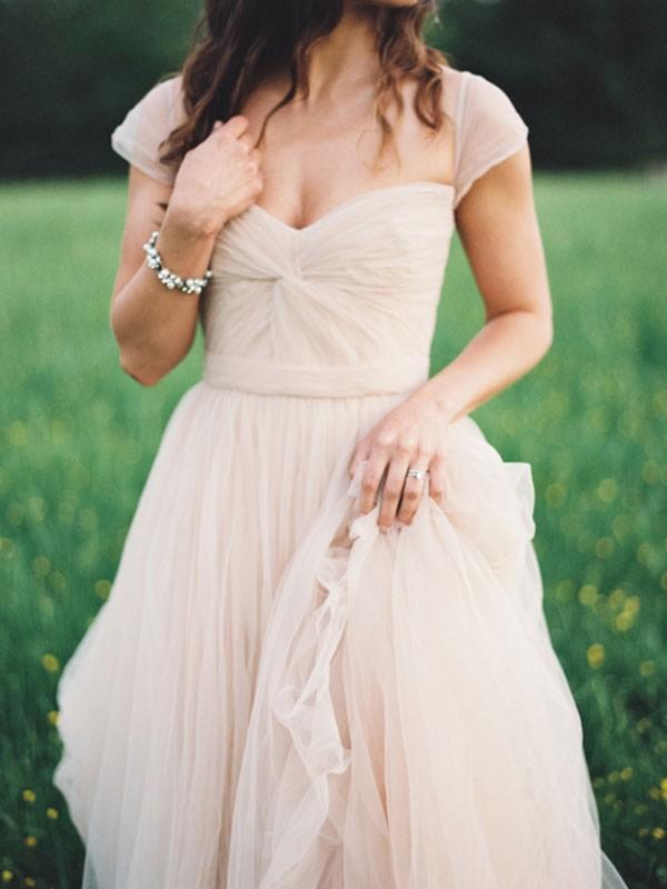 Forme Princesse Amoureux Longueur ras du sol Mousseline de soie Robe de soirée avec Ruché